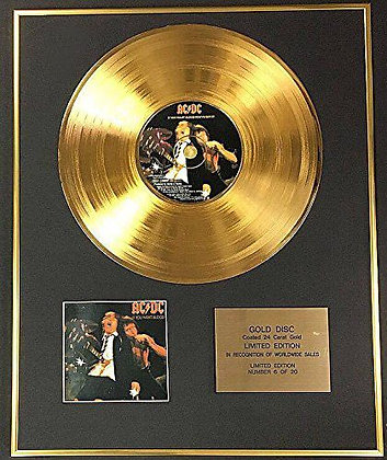 AC/DC - Exclusive Limited Edition 24 Carat Gold Disc - If You Want Blood