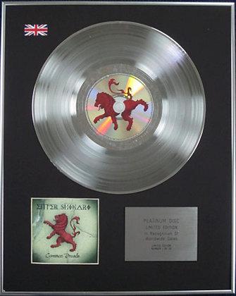 ENTER SHIKARI - Limited Edition CD Platinum Disc - COMMON DREADS