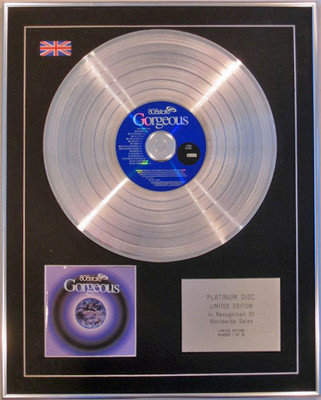 808 STATE - Limited Edition CD Platinum Disc - GORGEOUS