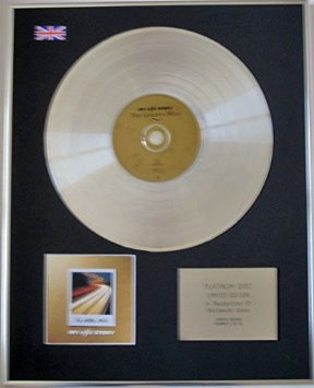 MY LIFE STORY - Limited Edition CD Platinum Disc - THE GOLDEN MILE