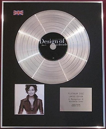 JANET JACKSON - CD Platinum Disc - DESIGN OF A DECADE