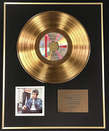 Bob Dylan - Exclusive Limited Edition 24 Carat Gold Disc - Highway 61
