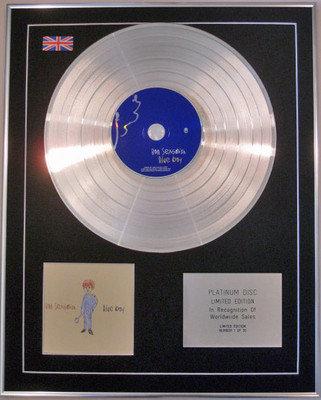 RON SEXSMITH - Limited Edition CD Platinum Disc -  BLUE BOY