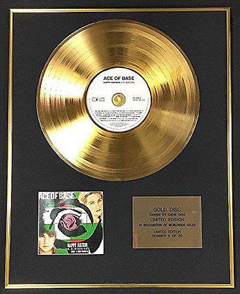 Ace Of Base - Exclusive Limited Edition 24 Carat Gold Disc - Happy Nation
