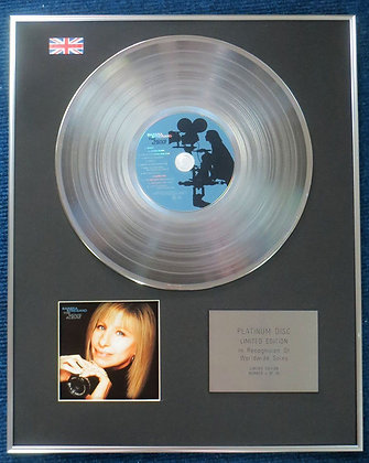 Barbra Steisand - Limited Edition CD Platinum LP Disc - The Movie Album