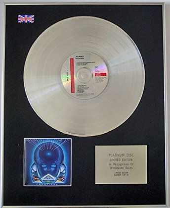 JOURNEY - Limited Edition CD Platinum Disc - FRONTIERS