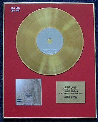 Britney Spears - Limited Edition CD 24 Carat Gold Coated LP Disc - Glory