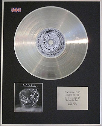 DOVES - CD Platinum Disc - SOME CITIES