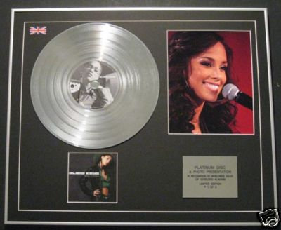 ALICIA KEYS - CD Platinum Disc+Photo -SONGS IN A MINOR
