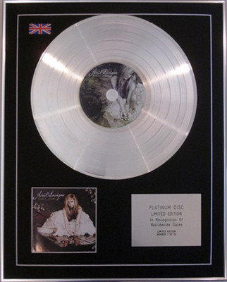 AVRIL LAVIGNE - Limited Edition CD Platinum Disc- GOODBYE LULLABY