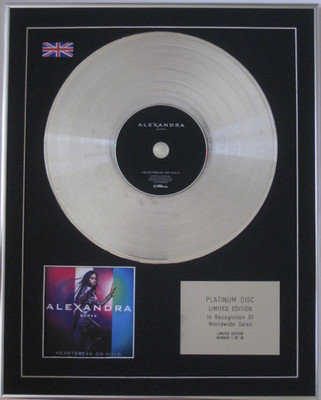ALEXANDRA BURKE - Limited Edition CD Platinum Disc - HEARTBREAK ON HOLD