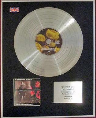 10.000 MANIACS - CD Platinum Disc -CAMPFIRE SONGS