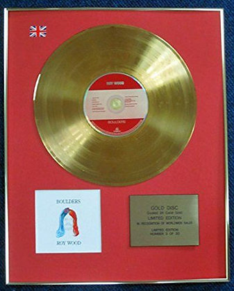 Roy Wood - Limited Edition CD 24 Carat Gold Coated LP Disc - Boulders