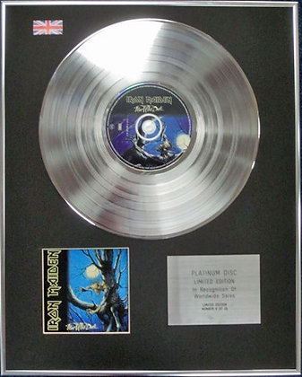 IRON MAIDEN - Limited Edition CD Platinum Disc - FEAR OF THE DARK