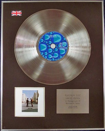 PINK FLOYD - Limited Edition CD Platinum Disc - WISH YOU WERE HERE
