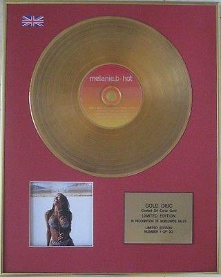 MELANIE B  (Spice Girl)  - Limited Edition CD 24 Carat Gold Disc -  HOT