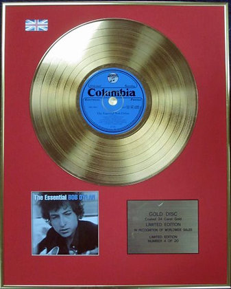 BOB DYLAN - Ltd Edition CD 24 Carat Coated Gold Disc - THE ESSENTIAL BOB DYLAN