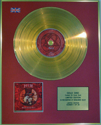 HIM - Limited Edition 24 Carat Gold Disc CD - UNEASY LISTENING VOL.2
