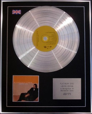 ALEXANDER O'NEAL - Limited Edition CD Platinum Disc - GREATEST HITS
