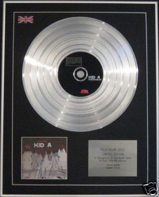 RADIOHEAD - Ltd Edtn CD Platinum Disc - KID A