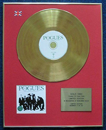 Pogues - LTD Edition CD 24 Carat Gold Coated LP Disc - The Ultimate