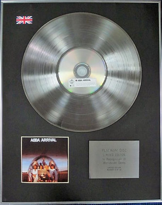 ABBA - Limited Edition CD Platinum Disc - ARRIVAL