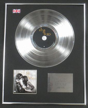 A STAR IS BORN  with LADY GAGA - Ltd Edition CD Platinum LP Disc - Soundtrack