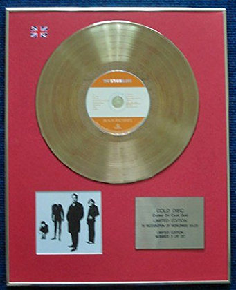 The Stranglers - Limited Edition CD 24 Carat Gold Coated LP Disc - Black&White
