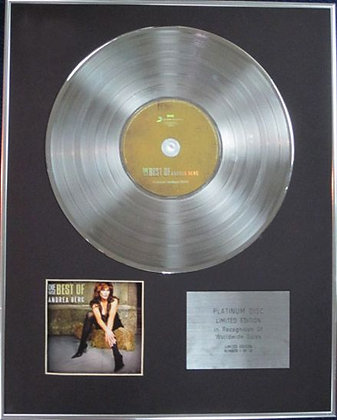 ANDREA BERG - Limited Edition CD Platinum Disc - BEST OF