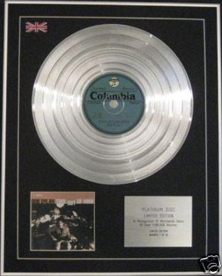 BOB DYLAN - Ltd Edition CD Platinum Disc  - TIME OUT OF MIND