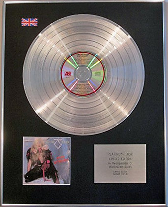 TWISTED SISTER - Limited Edition CD Platinum Disc - STAY HUNGRY