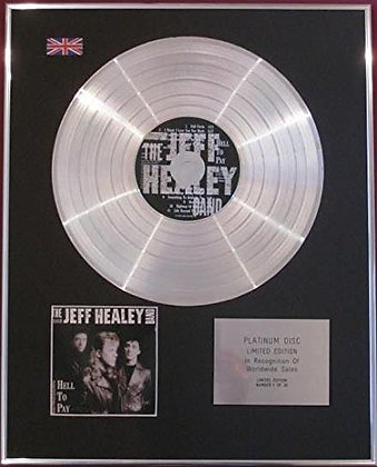 JEFF HEALEY BAND - CD Platinum Disc - HELL TO PAY