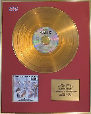 HEAVEN 17  - 24 Carat CD Gold Disc - PENTHOUSE AND PAVEMENT