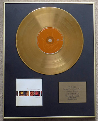SOLOMON BURKE - Exclusive Limited Edition 24 Carat Gold Disc - LIKE A FIRE