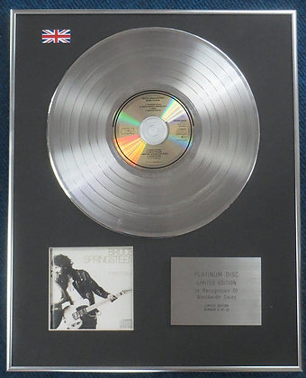 Bruce Springsteen - Limited Edition CD Platinum LP Disc - Born to Run