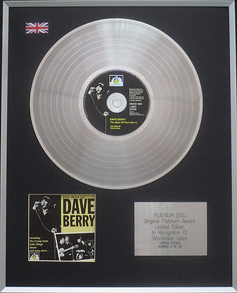 Dave Berry - Limited Edition CD Platinum LP Disc - The Best of