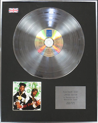 ERIC B - Limited Edition CD Platinum Disc - PAID IN FULL