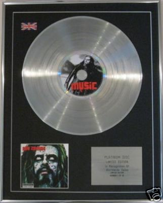 ROB ZOMBIE - CD Platinum Disc- PAST PRESENT & FUTURE