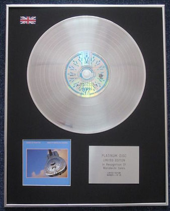 DIRE STRAITS - Limited Edition CD Platinum LP Disc - BROTHERS IN ARMS