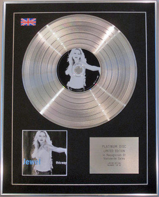 JEWEL - Limited Edition CD Platinum Disc - THIS WAY