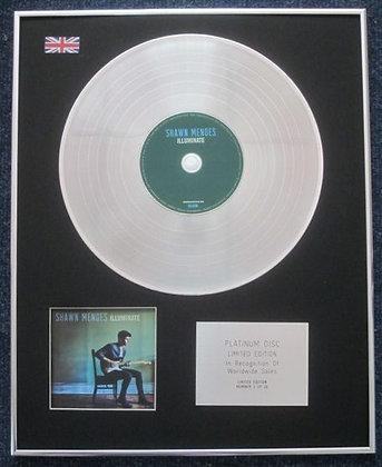 SHAWN MENDES - Limited Edition CD Platinum LP Disc - ILLUMINATE
