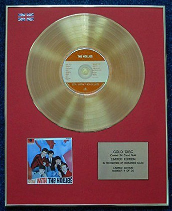 The Hollies - CD 24 Carat Gold Coated LP Disc - Stay with The Hollies