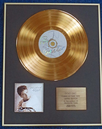 RICHARD MARX - Limited Edition CD 24 Carat Gold Coated LP Disc - PAID VACATION