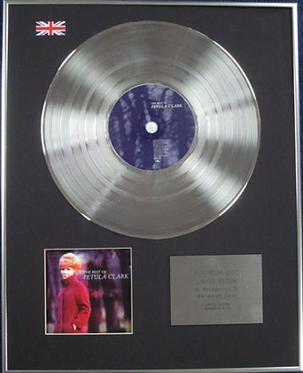PETULA CLARK - Limited Edition CD Platinum Disc - THE BEST OF