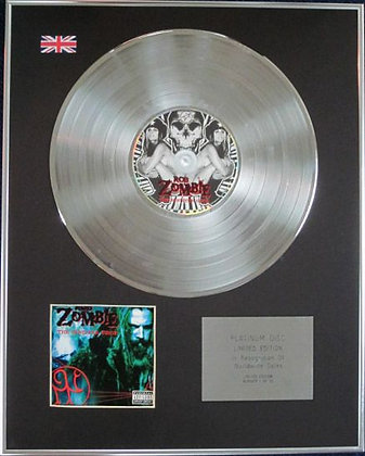 ROB ZOMBIE - Limited Edition CD Platinum Disc - THE SINISTER URGE