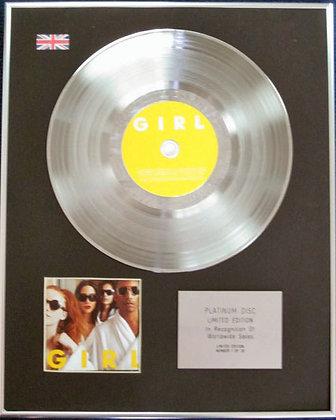 PHARRELL WILLIAMS - Limited Edition CD Platinum Disc - GIRL