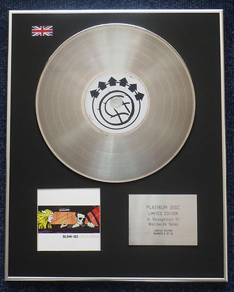 blink-182 - Limited Edition CD Platinum Disc - CALIFORNIA