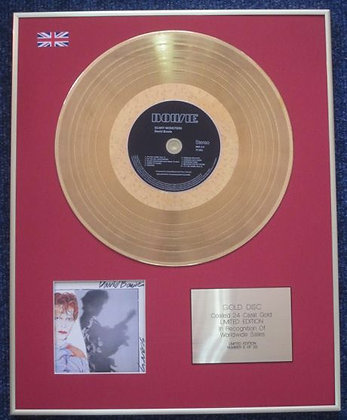 DAVID BOWIE - Limited Edition CD 24 Carat Gold Coated LP Disc - SCARY MONSTERS