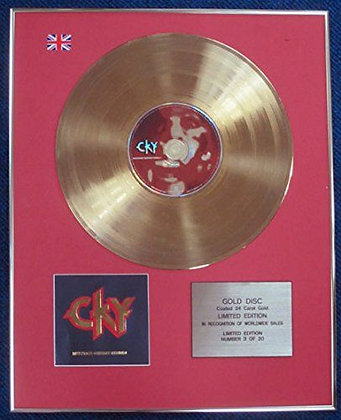 Cky - LTD Edition CD 24 Carat Gold Coated LP Disc - Infiltrate, Destroy�