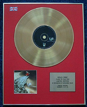 Korn - Limited Edition CD 24 Carat Gold Coated LP Disc - Follow the Leader